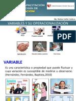 Variables y Operacionalización