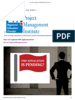 Don't Get Caught Into PMP Application Review