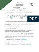 ejercicio modelo de dominio de una función