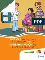 Normas Protocolos y Consejeria Para La Suplementacion Con Micronutrientes Ecuador