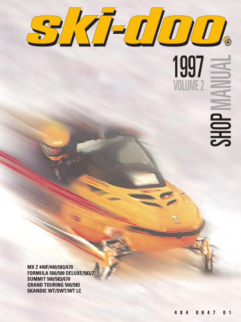 1997 skidoo shop manual carburetor belt mechanical rh es scribd com 1980 ski-doo service manual 1981 Ski-Doo Blizzard