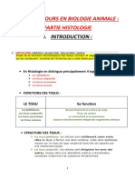 Introduction a l'Histologie