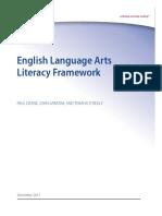 Ela Literacy Framework