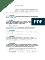 Características de La Información Contable