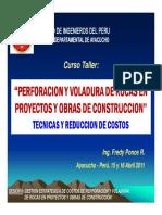 II. Gestion Estrategica de Costos de Perforacion y Voladira en Obras de Construccion