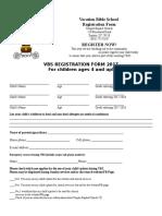 Vbs Registration Form 2017