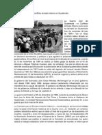 Conlficto Armado Interno en Guatemala
