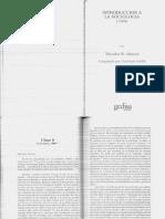 Adorno, T. Introduccion a La Sociologia (Cap. 9 y 10)
