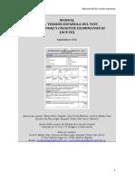 Manual de La Versión Española Del Test Ace III