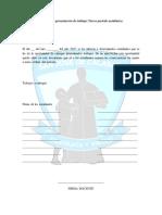 Acta Para La Presentacion de Trabajos Tercer Periodo Academico