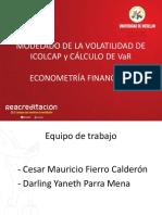volatilidad del ETF del Colcap