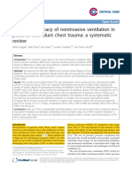 Safety and Efficacy of Noninvasive Ventilation in Patients With Blunt Chest Trauma