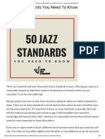 50 Jazz Standards You Need to Know - Learn Jazz Standards