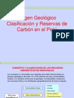 Semana 2 Origen Clasificación y Reservas de Carbón Perú