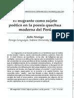 El Migrante Como Sujeto Poético. Noriega, Julio