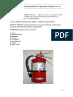 Extintor Portatil de Incendio