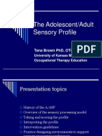 Adult sensory profile