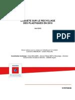 Enquete Plastiques Synthese Francais Anglais