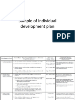 Sample of Individual Development Plan