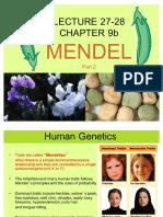 #27-28, Ch 9b Human Genetics and Variations on Mendel 1210 Su'17.pdf