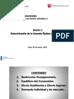 DETERMINACIÓN DE LA CANASTA OPTIMA DEL CONSUMO