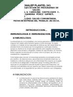 Inmunologia e Inmunizacion.