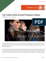 Top 10 Best Online Doctoral Programs in Music