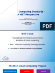 Cloud Computing Standards – NIST Perspective (NIST 2016)