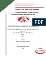 Nivel de Desarrollo Sostenible en Las Mypes Araujo