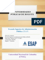 Universidades Públicas de Bogotá