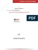 A Project Report on Kotak Insurance