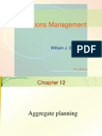 1 Aggregate Planning