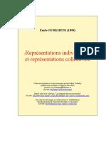 Durkheim Representations