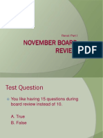 Final November Board Review