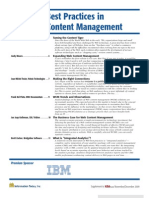 Web Content Management [November December 2009]