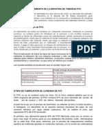 Procesamiento de La Industria de Tuberias Pvc