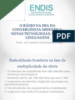 O Rádio Na Era Da Convergência Midiática_slides