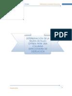 OPTIMIZACION DE UNA COLUMNA DE DESTILACION EMPLEANDO INTERPOLACION CUADRATICA