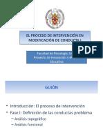El Proceso de Intervencion en Modificacion de Conducta