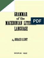 Macedonian Grammar - Horace Lunt