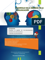 Planificación y Desarrollo de La Gerencia de La Comunicacion