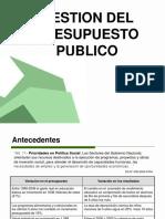 Gestion Del Presupuesto Publico ..