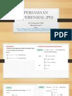 Persamaan Diferensial (Pd)