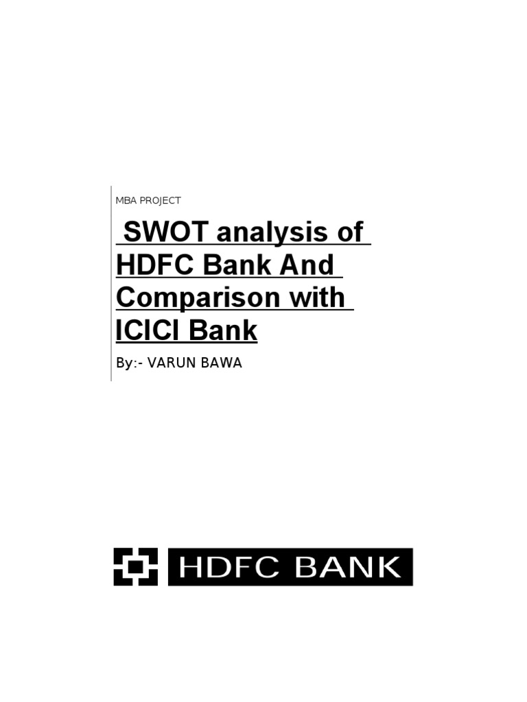 comparison of icici bank and hdfc