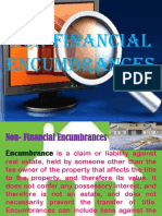 Non Financial Encumbrances