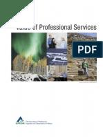 APEGA - Value of Professional Service 2012