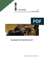 Streamlight's  ProTac Rail Mount HL-X