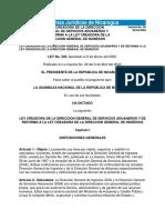 Ley No. 339 Ley Creadora de La Direccion General de Servicios Aduaneros y de Reforma Al a Direccion General de Ingresos