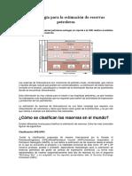 Metodología Para La Estimación de Reservas Petroleras