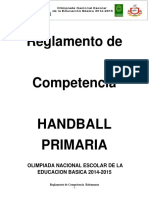Reglamento Handball